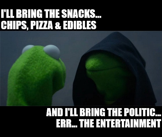 It's time for more political theater. So break out the chips, some pizza and keep an eye on pot stocks as Congress plays kick the stimulus football.