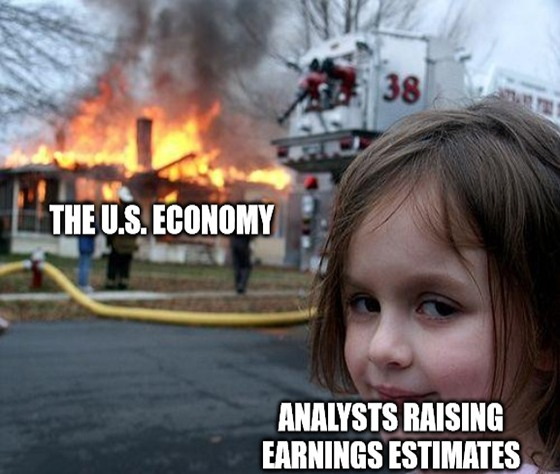 Earnings expectations are high, but can corporate profits outshine the black smoke rising from the U.S. economy?