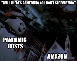 Amazon said that current-quarter operating expenses could range from $1 billion to $4.5 billion due to the pandemic.