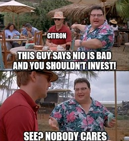 Citron is dead wrong if it thinks that Nio doesn't have the leverage to cut prices as well.