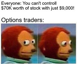 Turns out you can control $70K worth of stock with just $9,000.