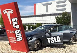 Today is the official day, and TSLA now trades on the S&P.