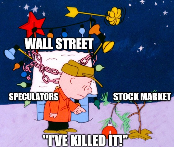 I'm no market grinch, but when stocks are valued at 184% of GDP, someone has to tell it to you like it is. Even if that means I get coal in my stocking this year. Bah…