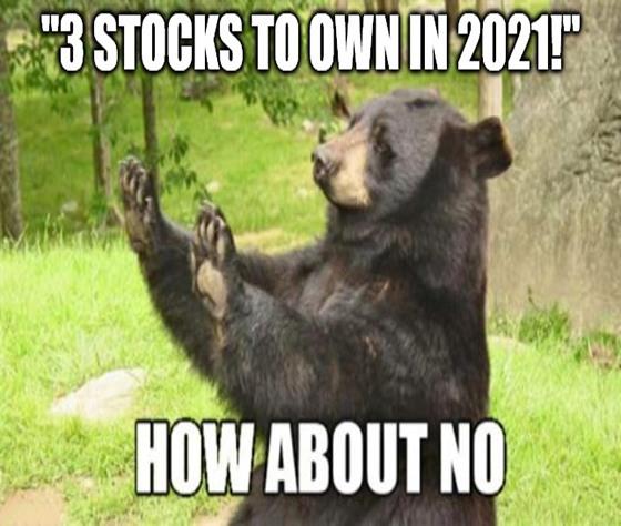 3 Stocks to Avoid 2021