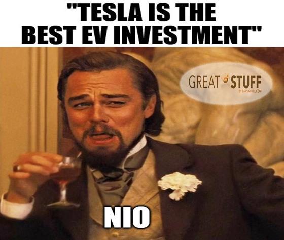 Tesla Best EV Nio Meme