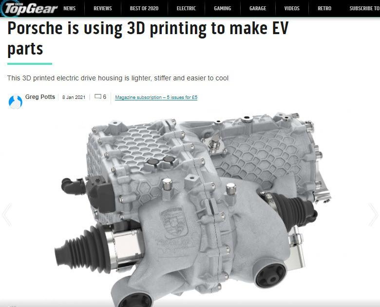 Porsche 3D Parts Article