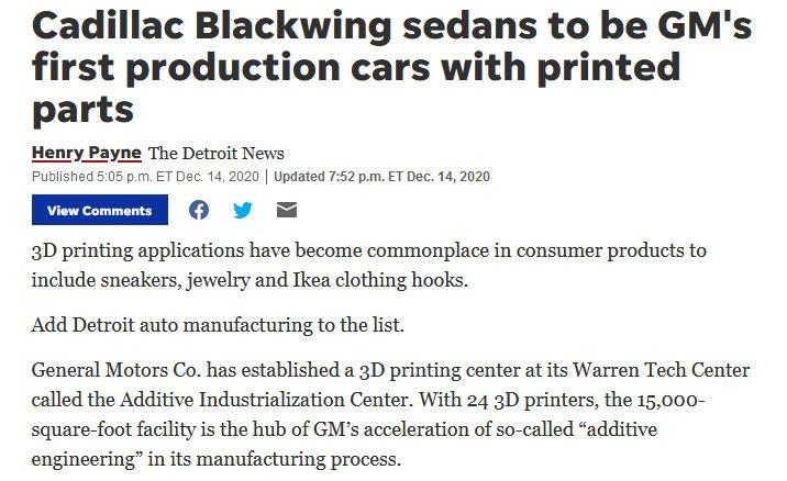 Cadillac Blackwing Sedan