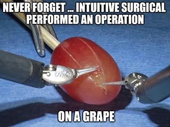 Intuitive Surgical robots on grape meme