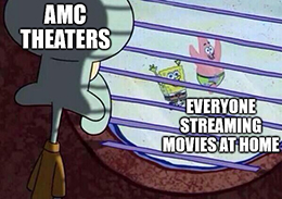 AMC Squidward share offering meme