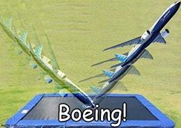 Boeing trampoline meme 777X delay