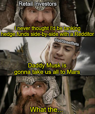 LotR daddy Musk GameStop meme