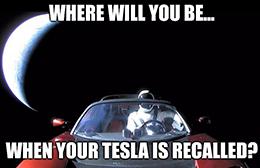 Tesla's total recall in orbit meme