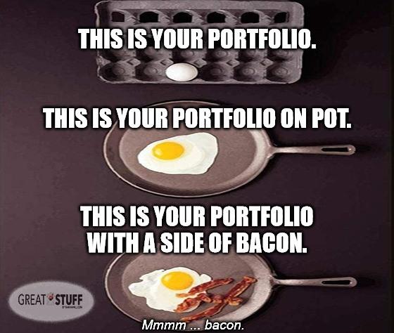 stock portfolio on pot meme