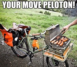 Bike grill your move, Peloton meme