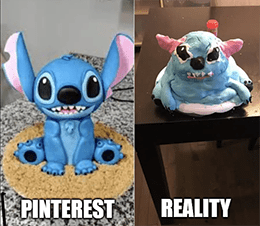 Pinterest versus reality Stitch meme