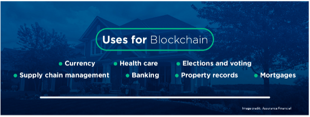 uses for blockchain infographic