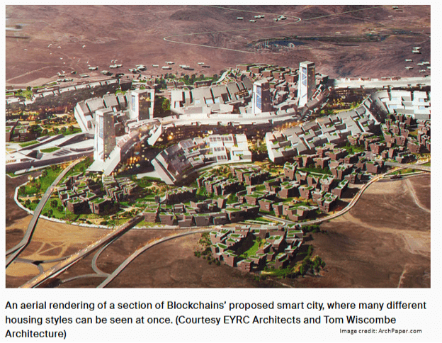 blockchain proposed smart city concept