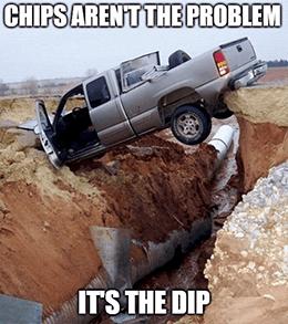 GM chip shortage dip problem meme