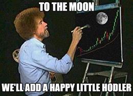To The Moon: Bitcoin Bob Ross Meme