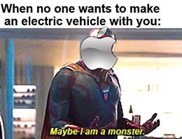 Apple EV Maybe I'm a monster meme