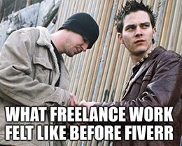 What freelance work felt like before Fiverr