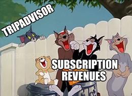 Tripadvisor's subscription service $99 revenue meme