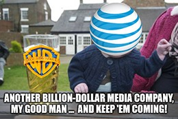 AT&T drunk baby buying media companies DirecTV meme