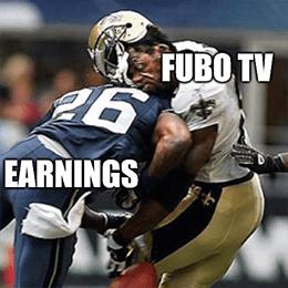 Earnings vs. Fubo TV predicts subscriber loss meme