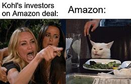 Kohl's not benefitting from Amazon deal returns cat meme