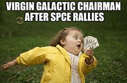 SPCE chairman sells off personal stake run meme