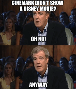 Cinemark doesn't show Disney's Raya Clarkson meme