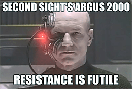Second Sight Argus 2 approved resistance is futile meme