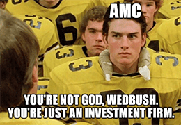 AMC Wedbush, not God just an investment firm meme