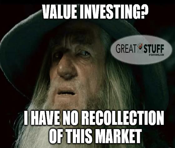 Value investsing? no recollection Gandalf 2021 meme big