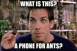 What is this, phone for ants? Apple mini phone meme