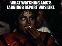 Watching AMC's earanings report March 2021 meme