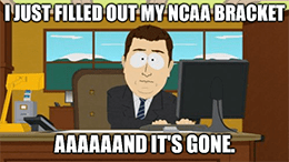 DraftKings NCAA bracket March madness meme