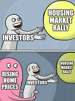 Housing investors vs. rising home prices bubble meme