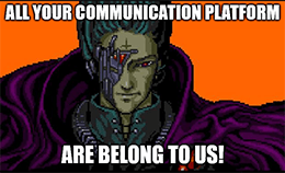 All your communication apps are belong MSFT Discord meme