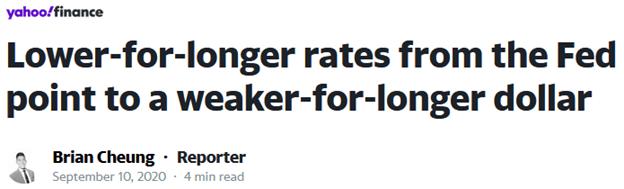 low rates point to weak dollar