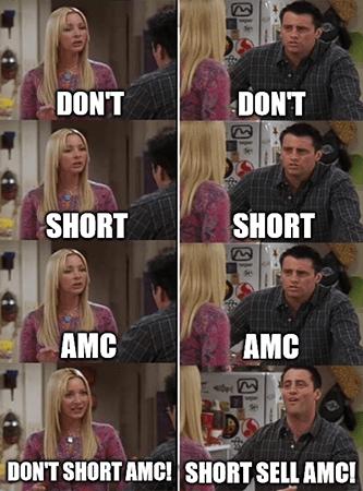 Don't short sell AMC Friends meme