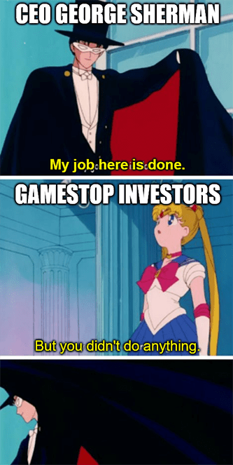 George Sherman didn't do anything GameStop investors meme