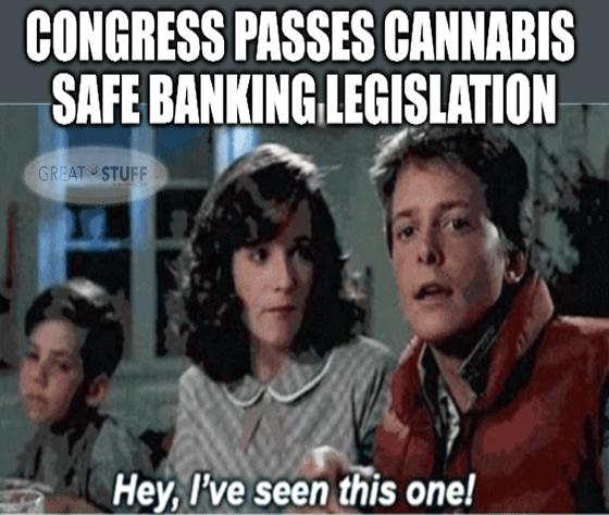 Congress passes cannabis safe banking already seen meme big