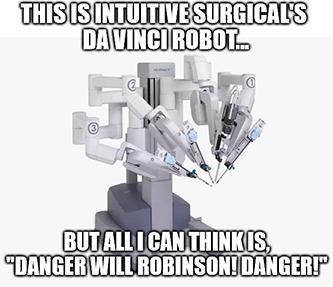 Da Vinci robot Will Robinson meme