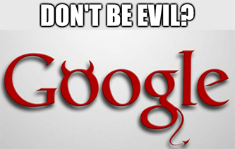 Google don't be evil meme