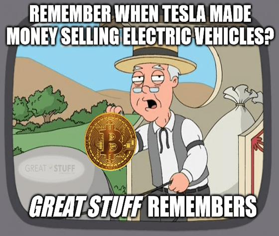 Remember when tesla made money selling evs? meme big