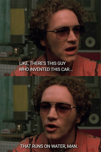 Hyde there's this guy car runs on water meme