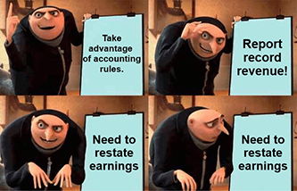 Plug's accounting restate earnings Gru meme
