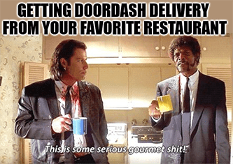 DoorDash delivery is some serious gourmet meme