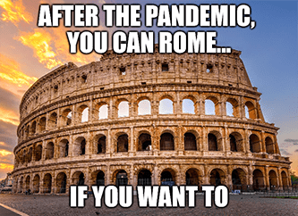 After pandemic Airbnb rome if you want to meme